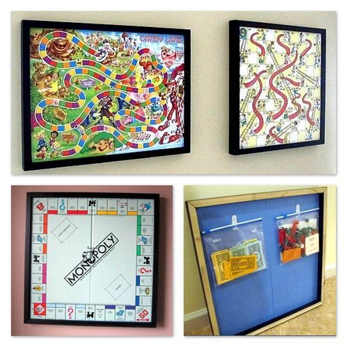 Neat Idea For Decorating A Kids Play Room Or Just A Great Way To