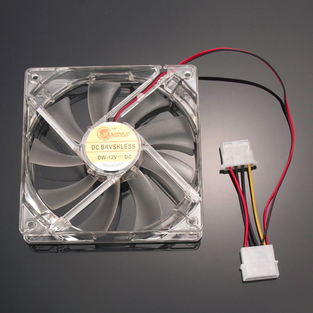 Pc Computer Fan Quad 4 Led Light 120mm Pc Computer Case Cooling Fan Mod Quiet Molex Connector Easy Installed Fan 12v Computer Case Computer Fan Pc Computer
