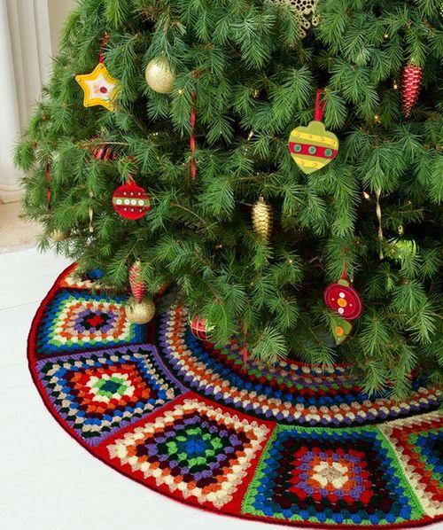 christmas treecrochet rug
