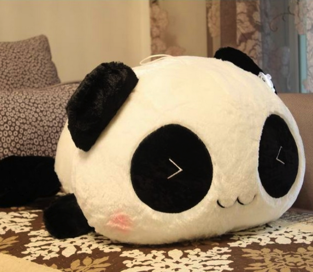 kawaii plush smiling panda things i like pinterest pl sch kawaii pl sch und kuscheln. Black Bedroom Furniture Sets. Home Design Ideas