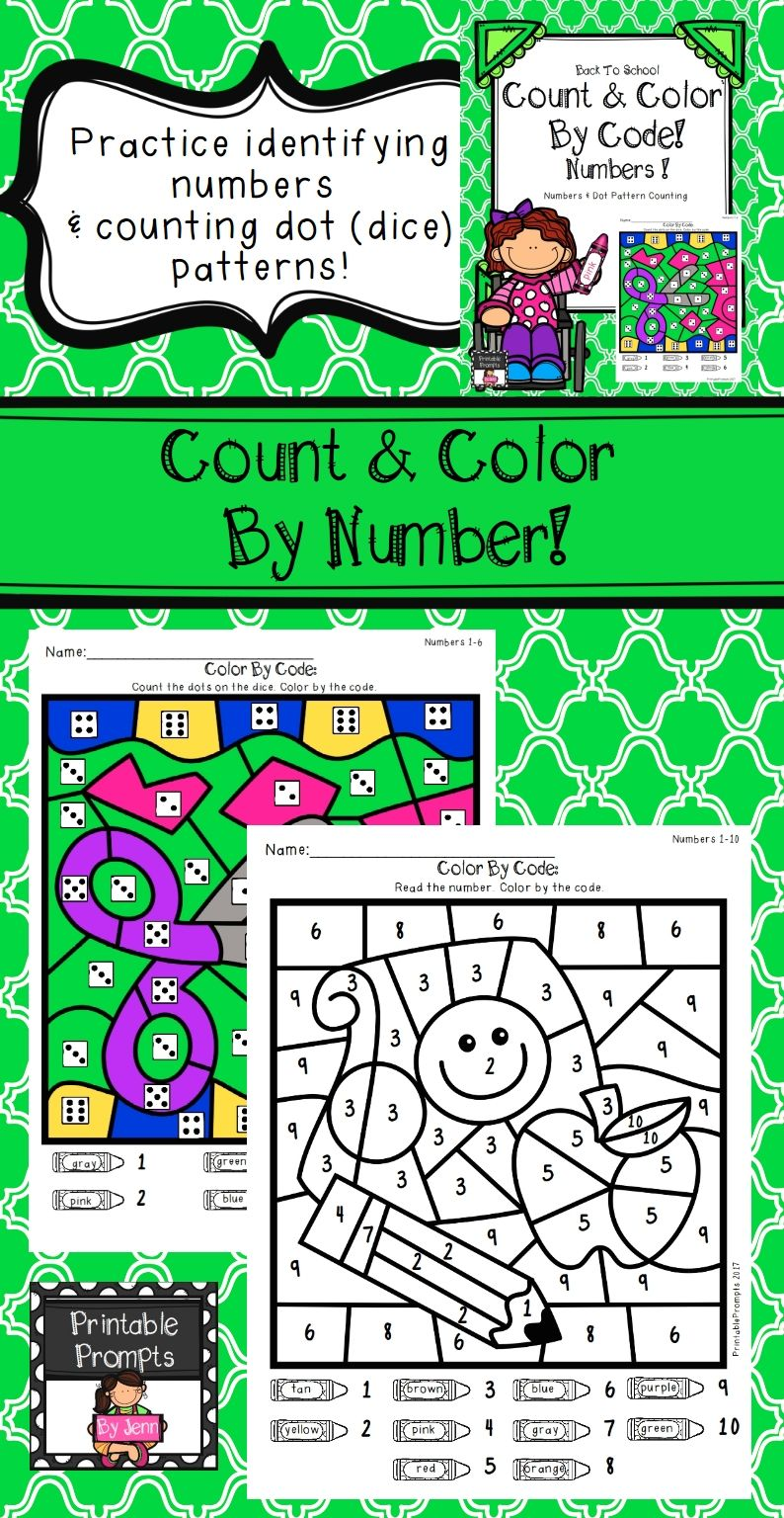 Back To School Color By Number | School colors