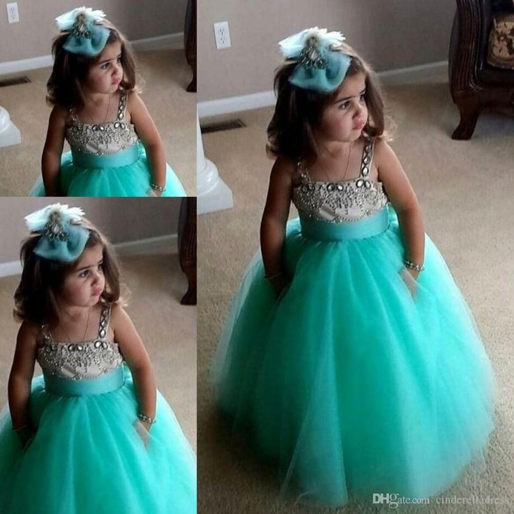 Cheap flower girl dresses, Buy Quality pageant dresses directly from China  ball gown flower girl Suppliers: 2017 New mint green ball gown flower girl  ...