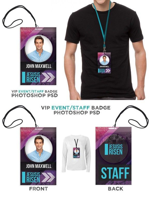 Press Pass Credentials Template Lanyard Designs Business Card Design Creative Id Design