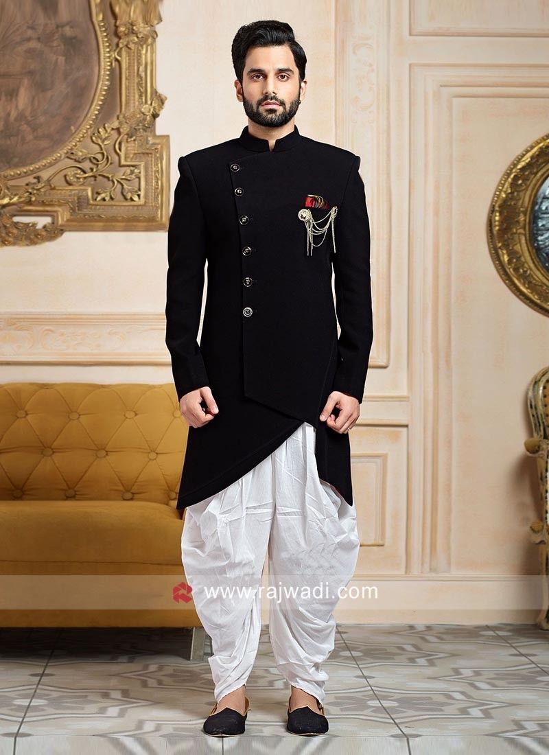 d81f727ca Imported Fabric Black Indo Western For Wedding... | Wedding in 2019 ...