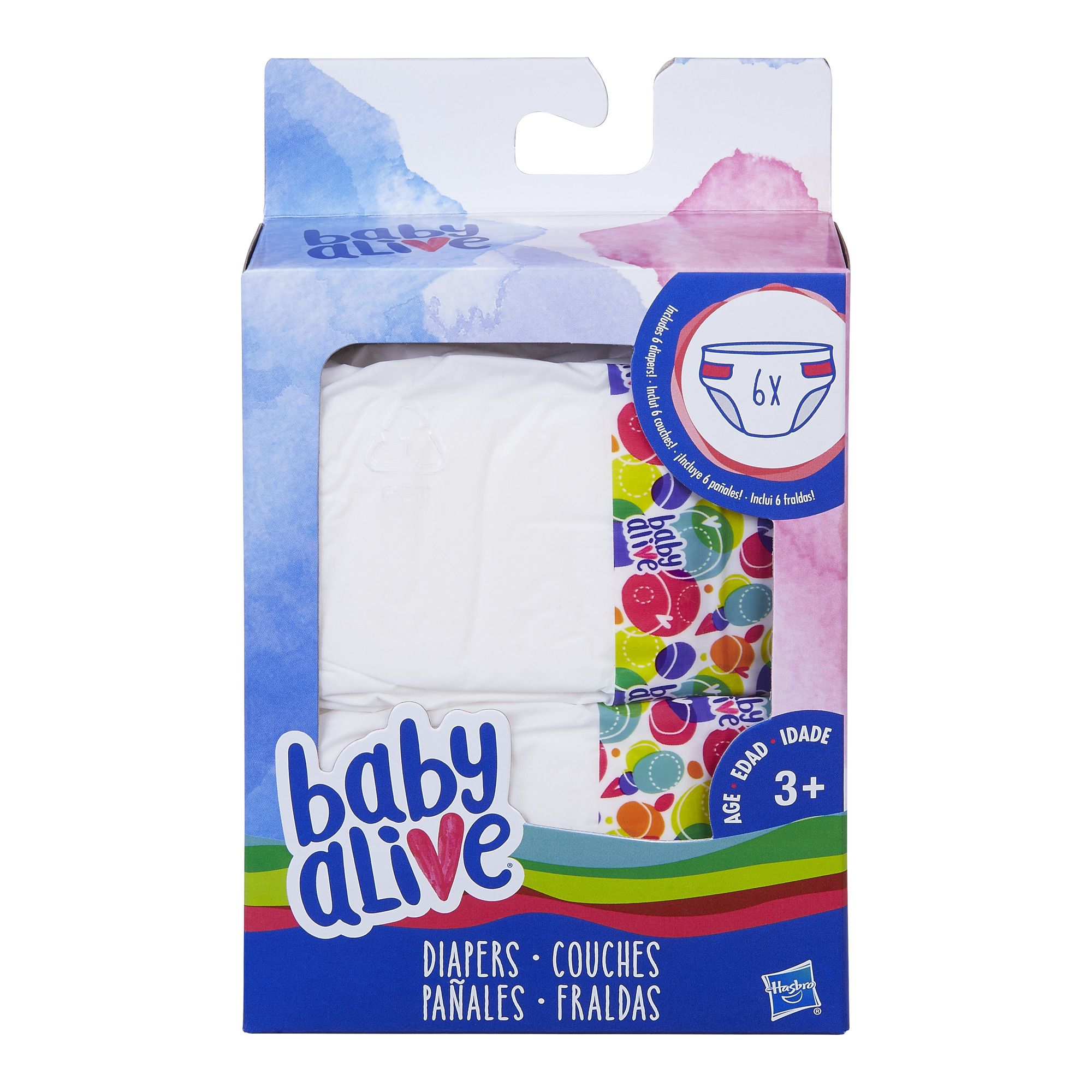 Baby alive 6 pack of diaper refills for baby alive dolls
