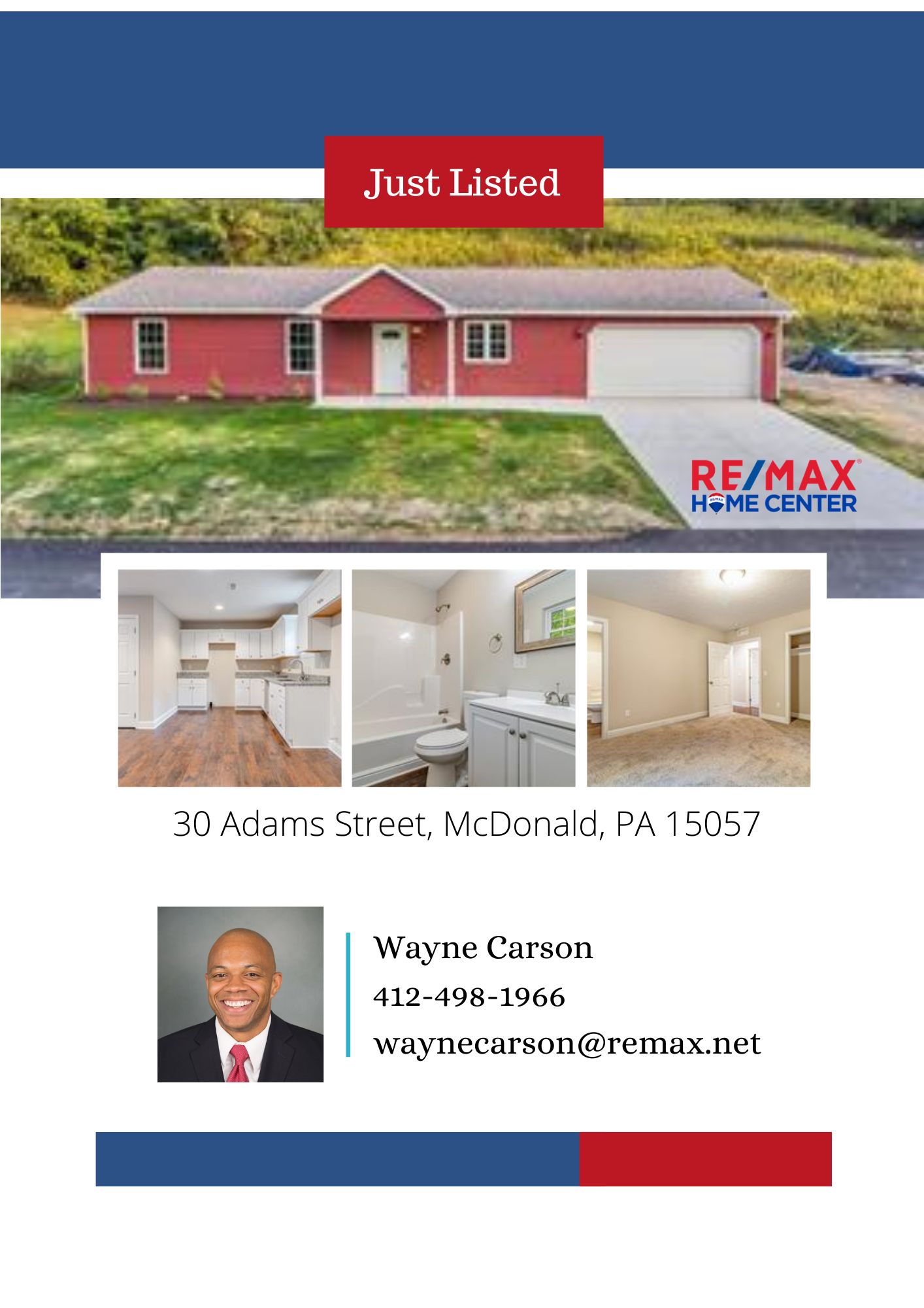 Come check out this new listing on the market! You could be coming home to this! Don't miss this one! #JustListed #Buyers #WayneCarson #ReMaxHomeCenter