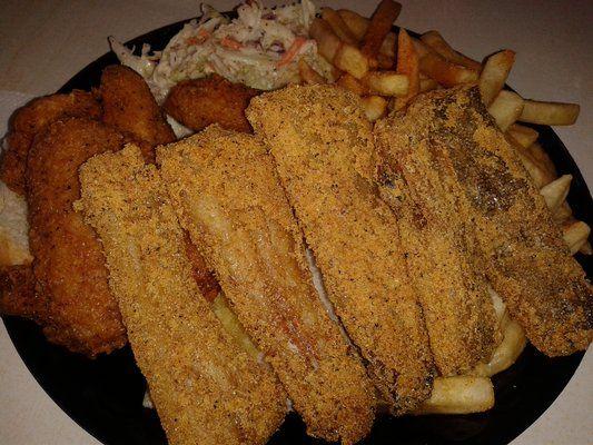 Bourbon Street Fish Inglewood Ca Fish Sanddab And Fried Chicken Combo Food Fried Chicken Breakfast