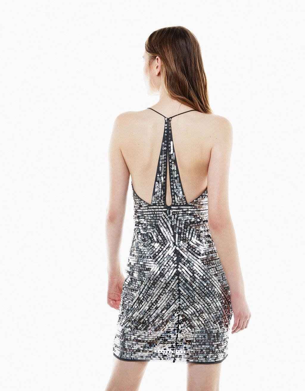 c349ab3b Vestido tirantes lentejuelas geometricas | Cosas mías | Vestidos de ...