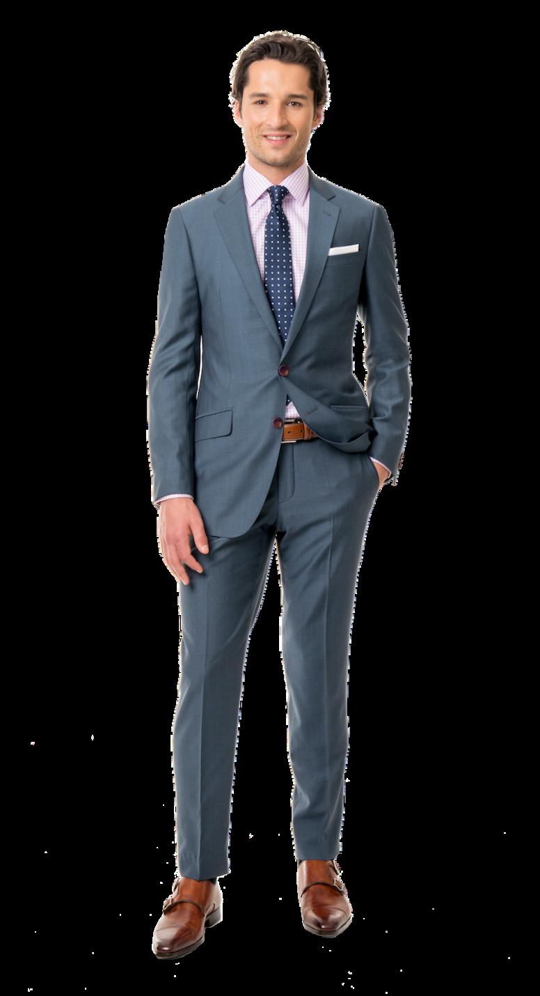 Light Charcoal Blue Custom Suit in 2019 | Charcoal blue suit