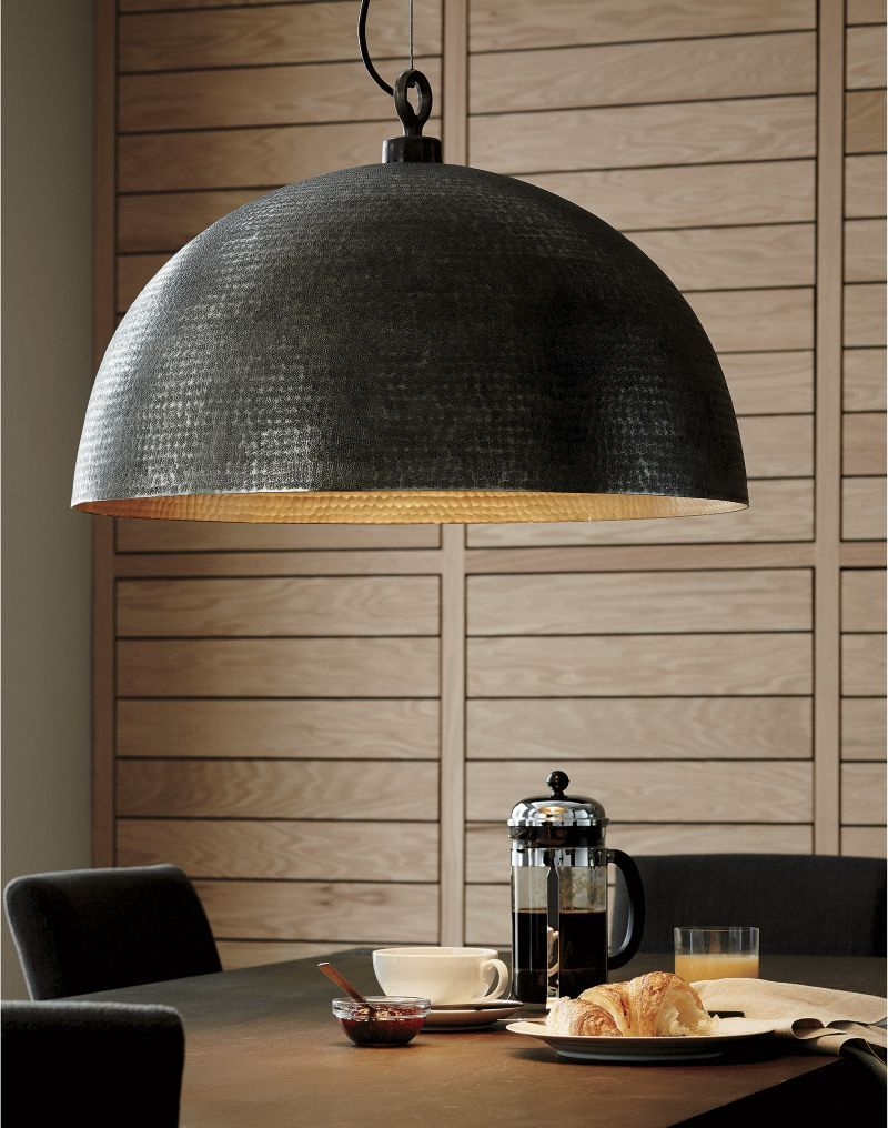 Rodan hammered metal dome pendant light in 2019 products pendant