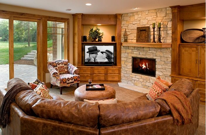 When And How To Place Your Tv In The Corner Of A Room Livingroom Layout Living Room Furniture Arrangement Family Room Design