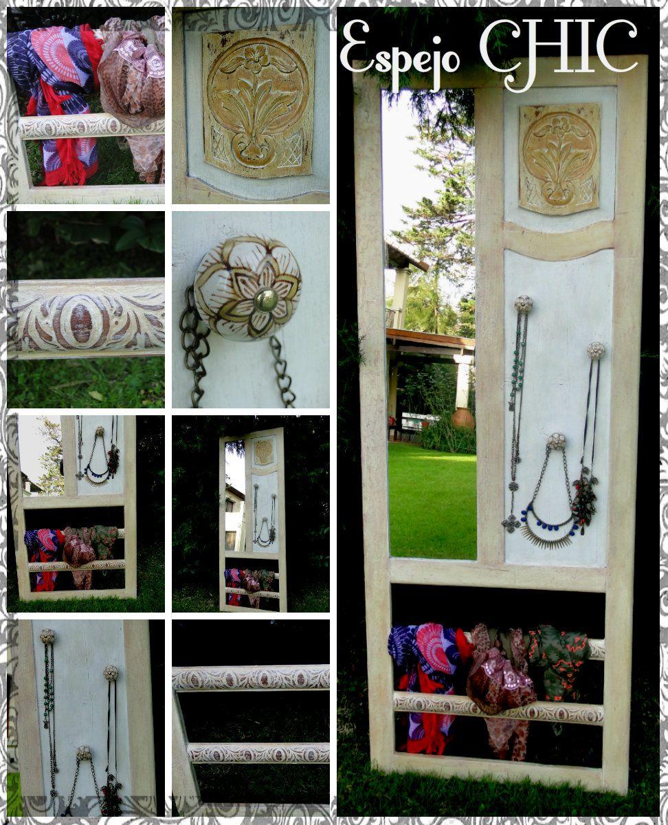 Muebles Vintage Espejo Chic Organizador De Bijou Agua Muebles  # Muebles Para Bijou
