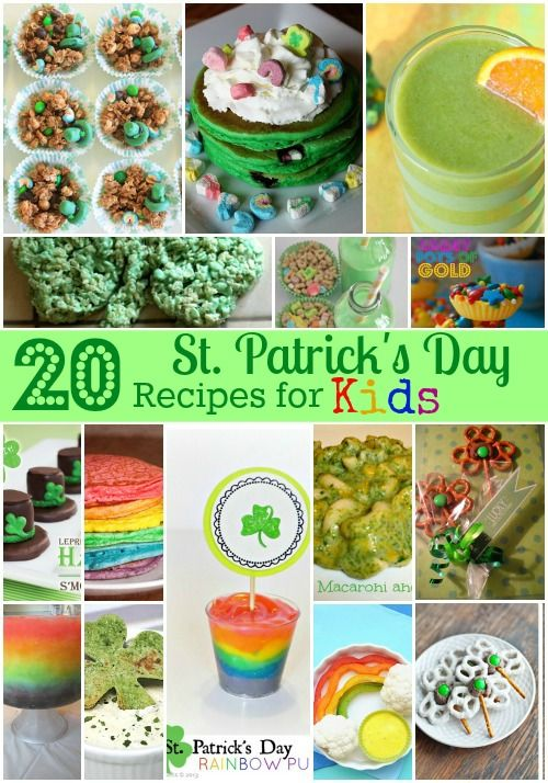 20 St Patrick S Day Recipes For Kids With Images St Patrick