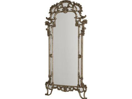 Jessica Mcclintock-The Boutique Collection Decorative Floor Mirror - Silver Veil Finish