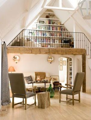 cozy lofts we   love to spend  snowy day reading in cottage life also inspiring home interior decorating ideas design rh pinterest