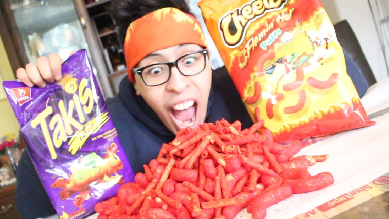 HOT CHEETOS AND TAKIS CHALLENGE! (GROSS ENDING)