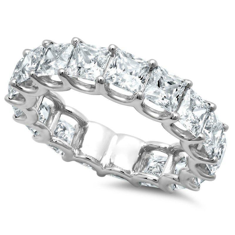 5 Carat Princess Diamond Eternity Band 18k White Gold Square Diamond Eternity Rings For Women Des Eternity Band Diamond Buy Diamond Ring Fine Diamond Jewelry