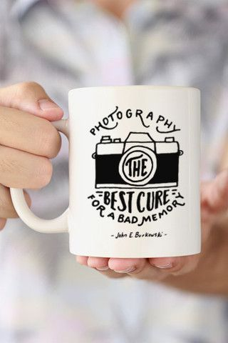 "Memories may not last forever, but photographs definitively can. Remember to never stop taking photos! ""Photography - The best cure for a bad memory"" - John E. Burkowski quote. - Ceramic - Dishwasher"