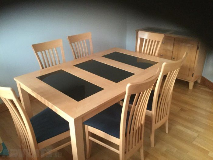 Image Result For Wooden Table With Granite Inserts