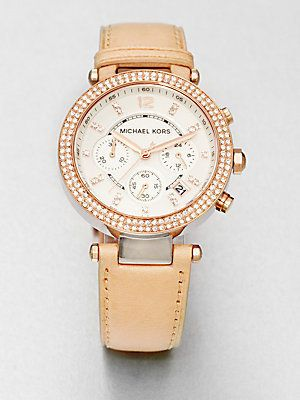 Michael Kors Crystal Rose Goldtone...    $225.00