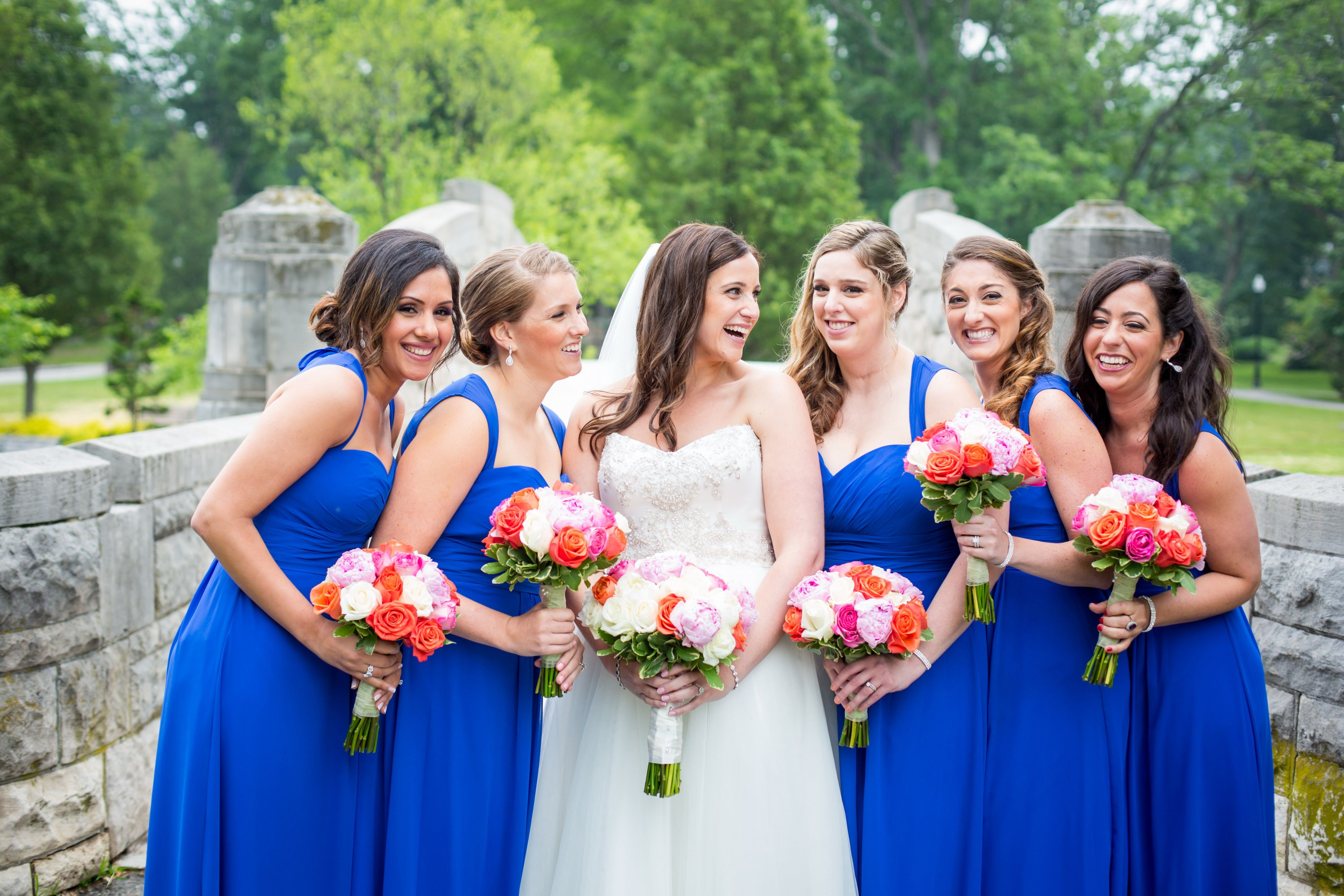 Colorful Orange And Blue Bridesmaid Dresses Gallery