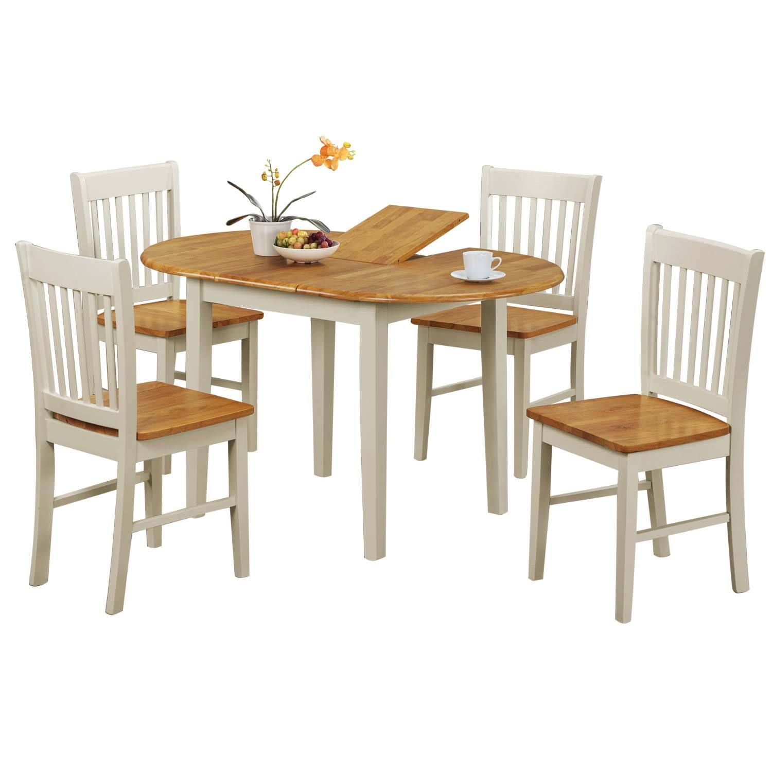 Oak Kitchen Tables And Chairs Sets: Kentucky Extending Dining Table And Four Chairs Set