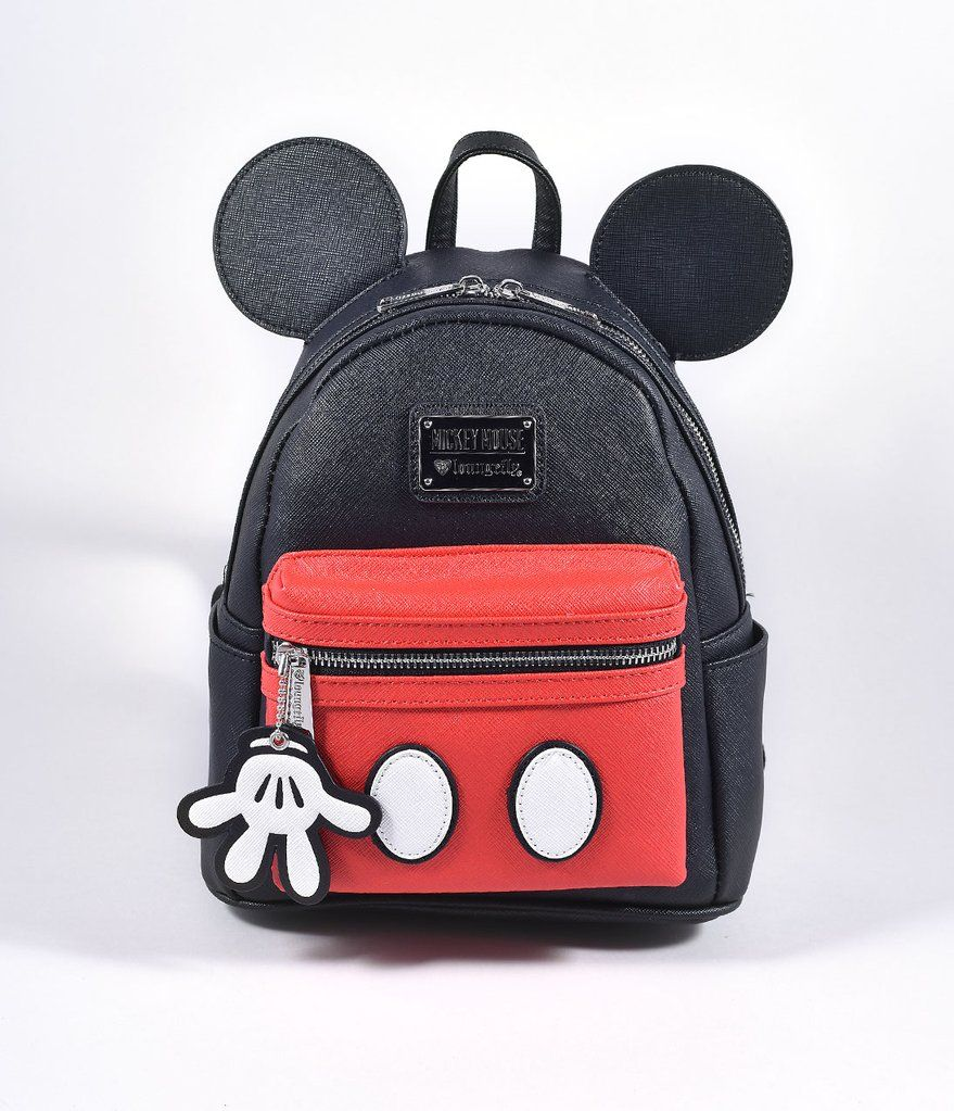 6cb3cf66e73 Loungefly Loungefly Black   Red Leatherette Mickey Mouse Suit Mini Backpack