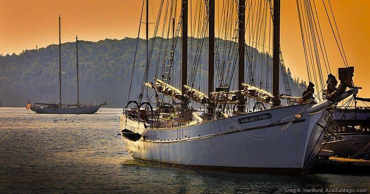 Acadia Magic - Schooner docked in Bar Harbor