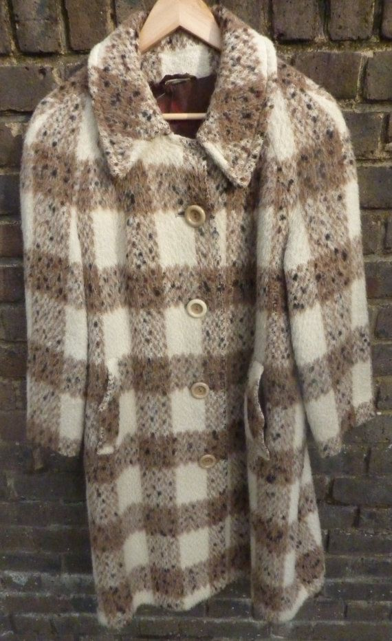 1960s Vintage ROTHMAR cream and brown Coat by Shadeofstylevintage, £29.99