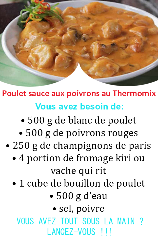 Poulet sauce aux poivrons au Thermomix