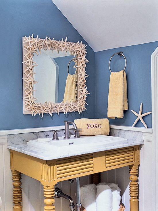 Beach Cottage Decor - really cute bathroom | Idée salle de ...
