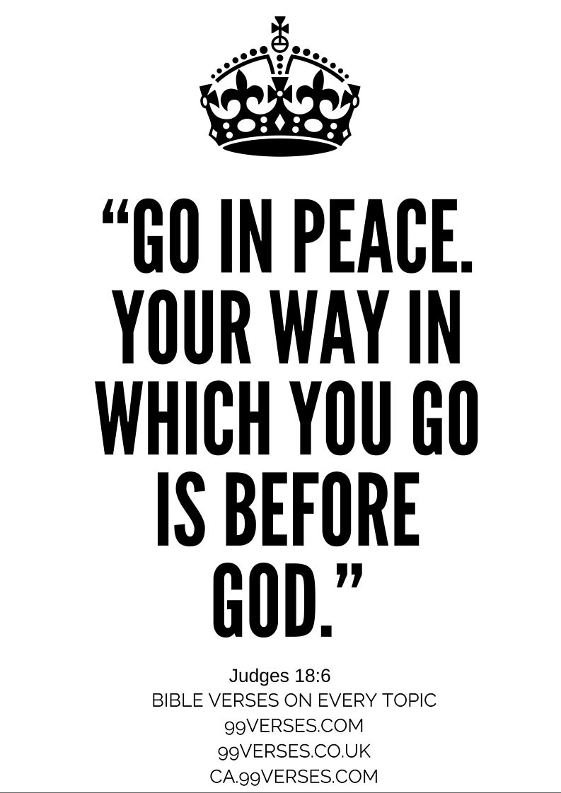 go in peace bible verse
