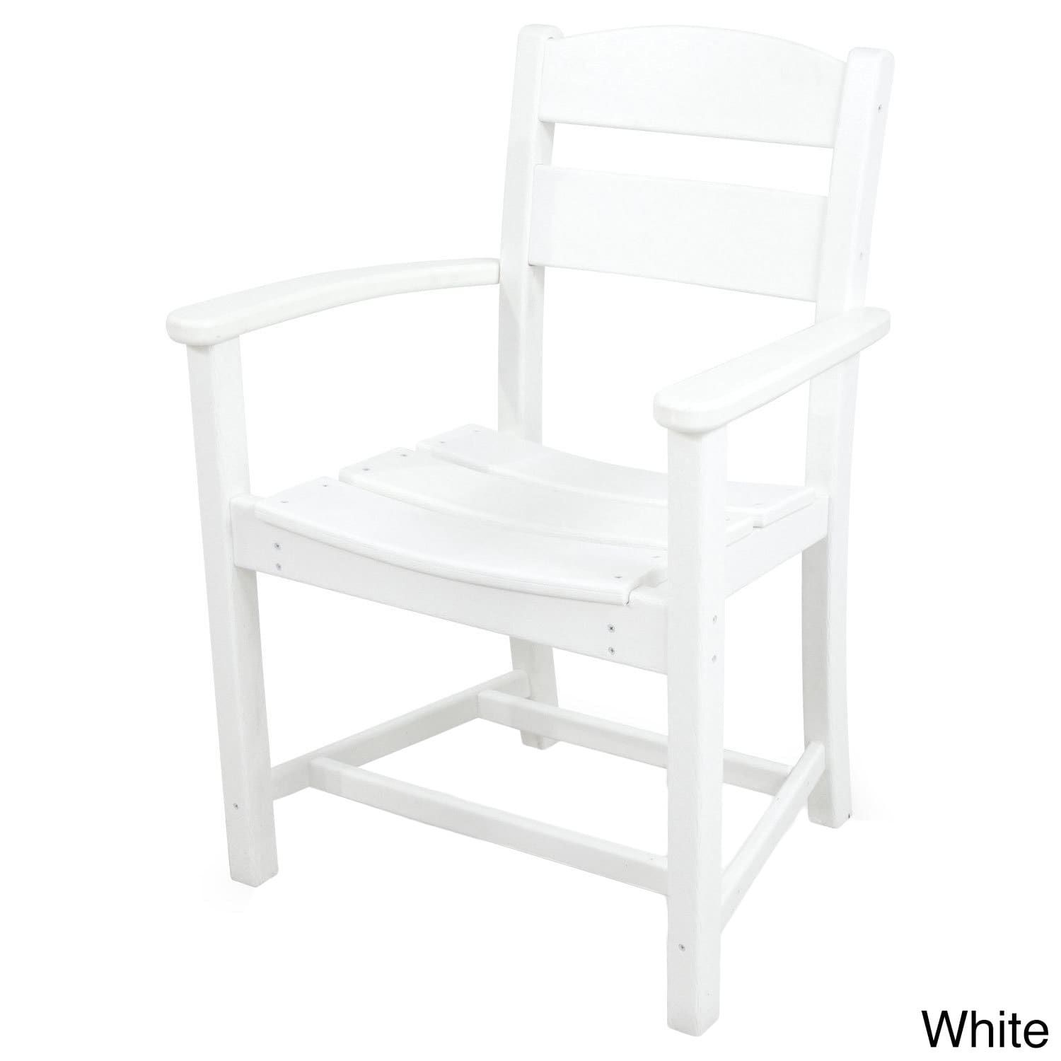 Ivy Terrace Clics Dining Arm Chair White Patio Furniture