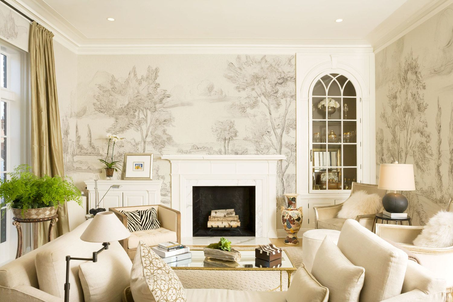 Hand Painted Mural Wallpaper Susan Harter Muralpapers Sc