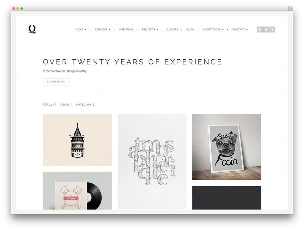quantum minimal portfolio theme | digital | Pinterest
