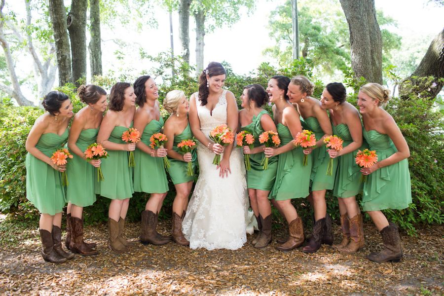 cute bridesmaid dresses with cowboy boots | Gommap Blog