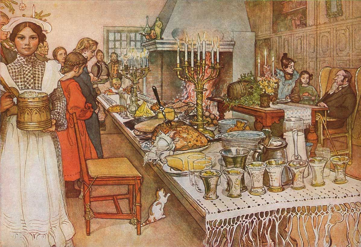 Carl-Larsson-Christmas-Ev.jpg (1197×821) | A Christmas Carol ...