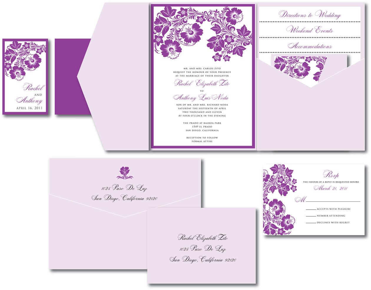 Purple And Lilac Wedding Invitations Lavender Invitation With Fl Accents January 13
