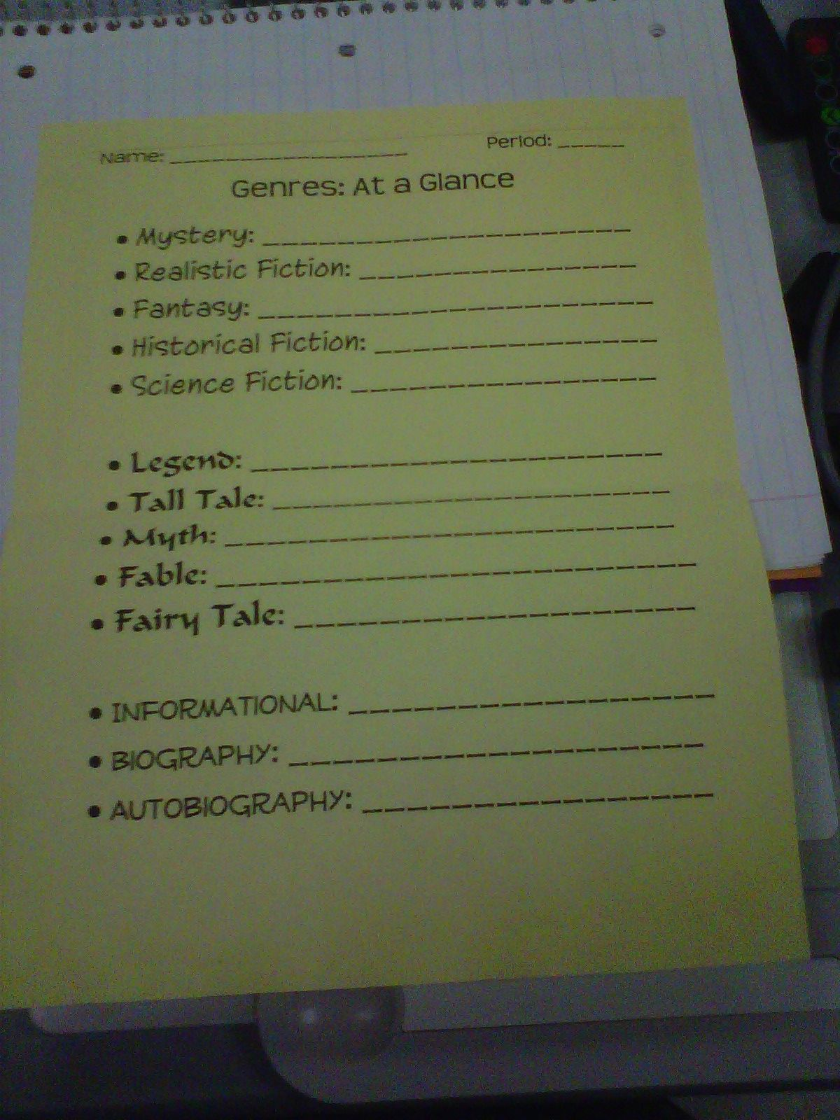 Genres Galore As Seen On Fifth Grade Flock