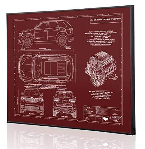 Jeep Grand Cherokee Trackhawk Blueprint Artwork Laser Mar Https