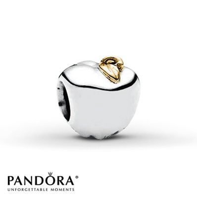 Pandora Charm Apple Sterling Silver/14K Yellow Gold - $45
