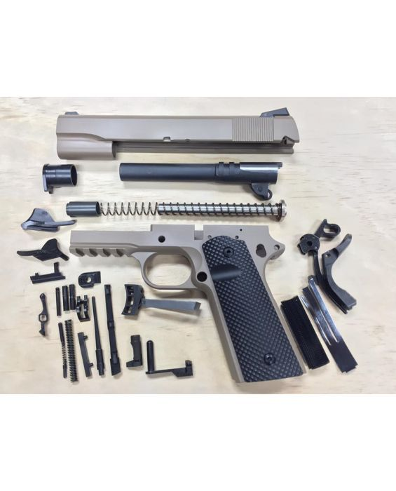 1911 TACTICAL 80% BUILDERS KIT FDE YOUR CHOICE  45 ACP OR