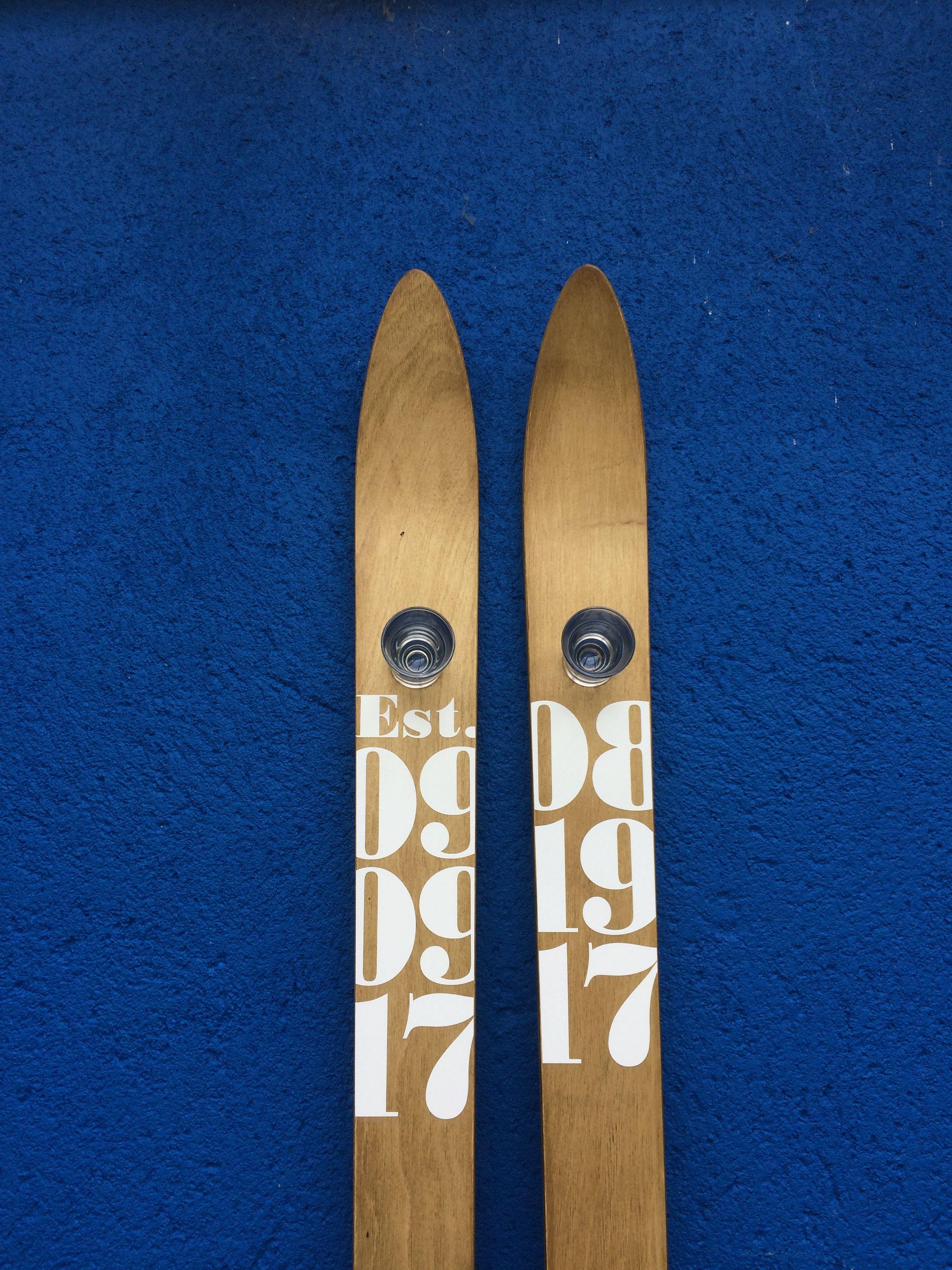 I love these dated shot skis shot ski unique items
