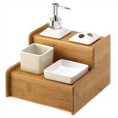 Bamboo Bathroom Accessories   Appartment   Pinterest  Bamboo Prepossessing Bamboo Bathroom Accessories Design Ideas