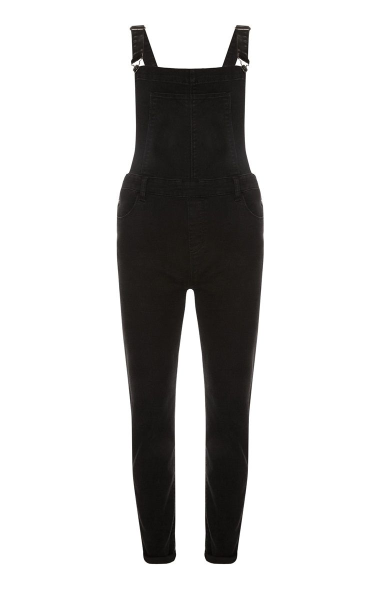 0060098b Primark - Black Skinny Stretch Dungarees | Women's Clothing | Black ...