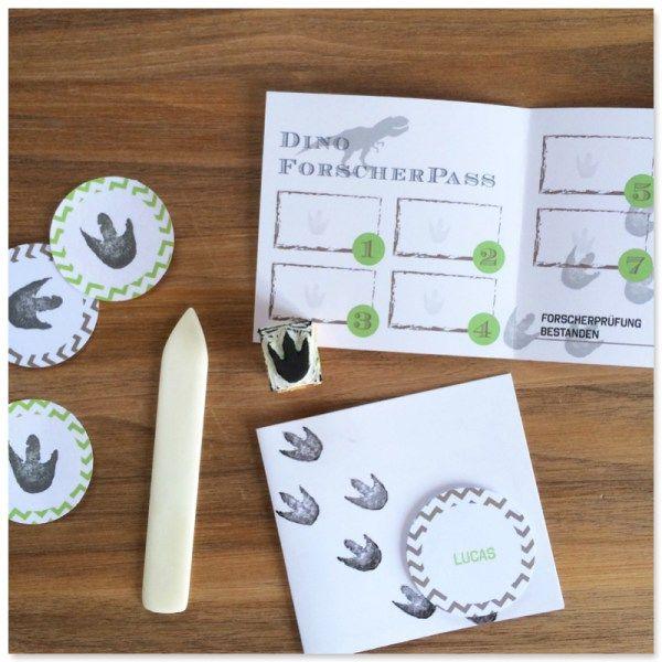 Dinoparty dinogeburtstag spiele games forscherpass printable dino party - Ideen zur geburtstagsfeier ...