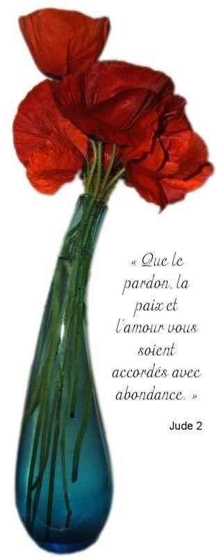 Tableau Vase Fleur Rouge Versets De La Bible Versets Promesses De Dieu