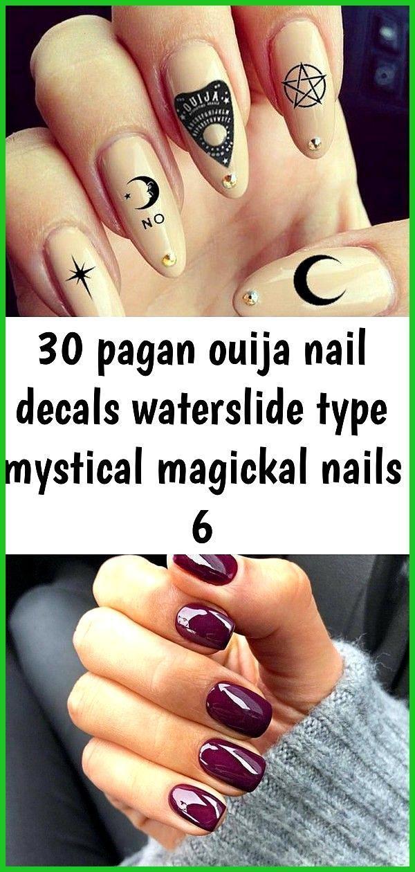 30 heidnischen Ouija Nagel Decals Wasserrutsche Typ mystische magische Nägel 6 …