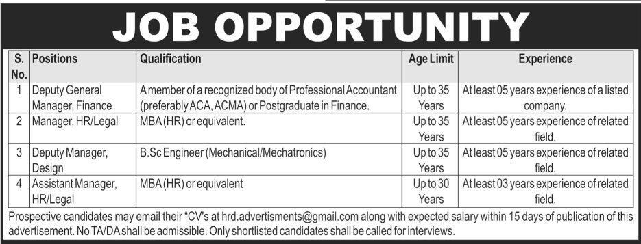 Jobs In Public Sector Organization Available For Engineer Manager