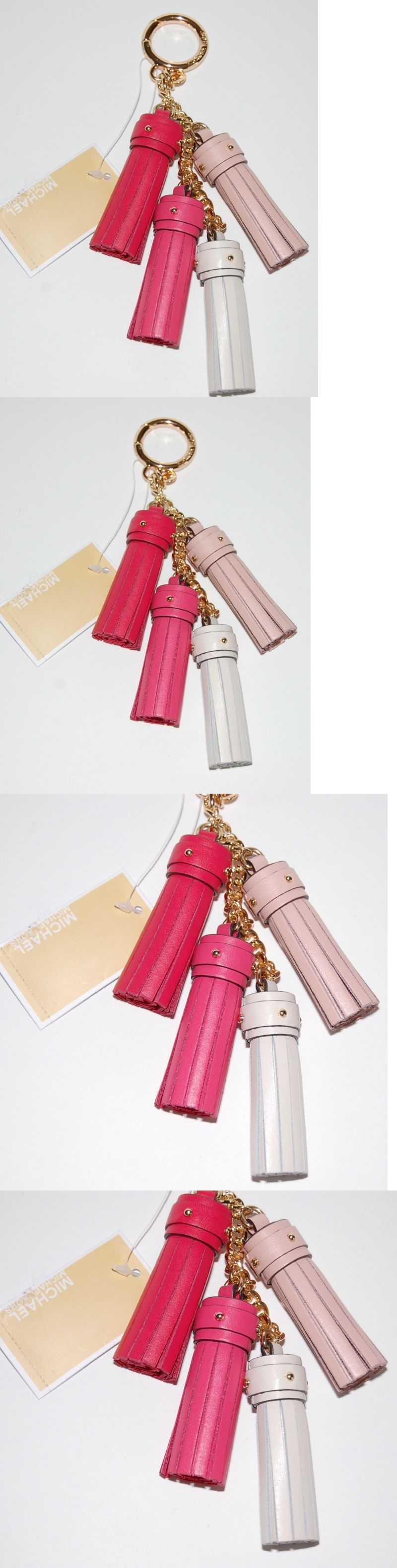 b8e7d9529a Key Chains Rings and Finders 45237  Nwt Michael Kors Pink Cascading Charms  Tassel Leather Key